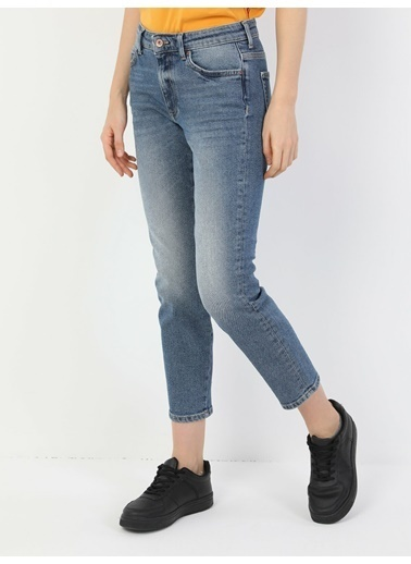 Colin's 891 Maya Slim Fit Orta Bel Rahat Kesim Paça Kadın Jean Pantolon Renkli